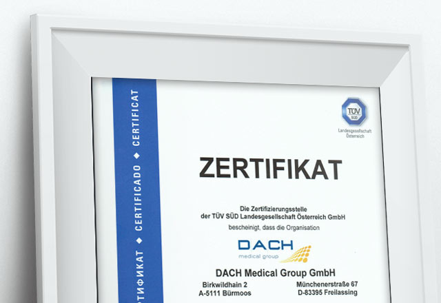 Iso 9001 Certification Dach Medical Group English